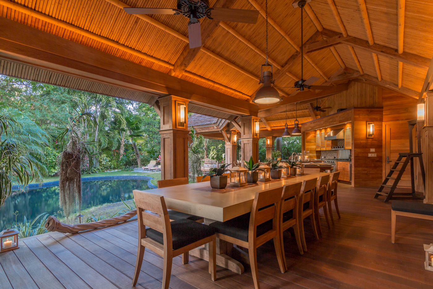 908 Fleming Outdoor Dining Key West Luxury Real Estate
